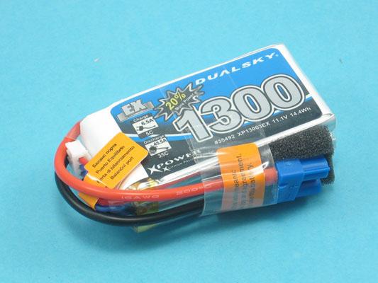Akku LiPol Xpower 1300-3S  EX (35C)