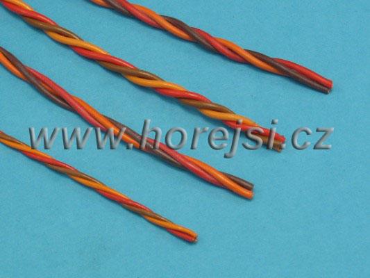Servokabel krouc. PVC 0,25