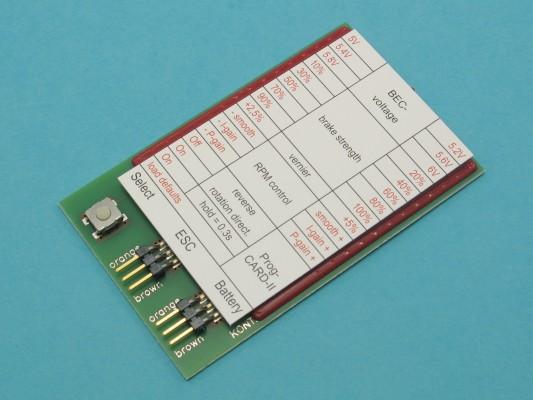 Programovací karta PROGCARD II