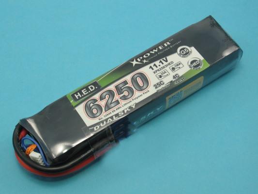 Akku LiPol Xpower 6250-3S HED