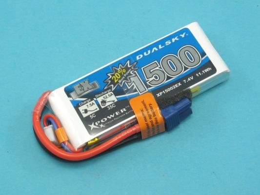 Akku LiPol Xpower 1500-2S  EX (35C)