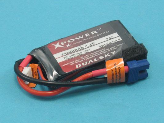 Akku LiPol XPower 1300-2S ULT 70C