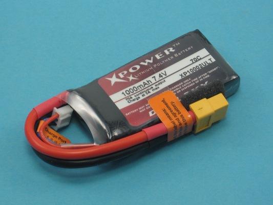 Akku LiPol XPower 1000-2S ULT 70C